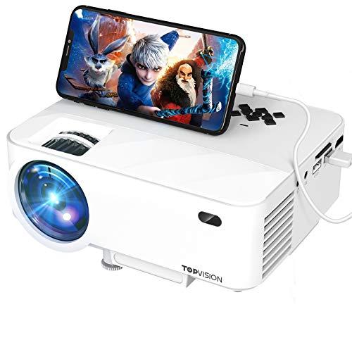 TOPVISION Mini Projector Outdoor Movie Projector...