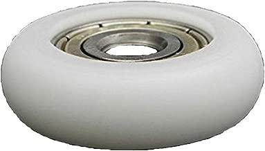 Driak 5x23x7.5mm White Bearing Steel Deep Groove Bearing Nylon Small Pulley Wheels, Set of 10