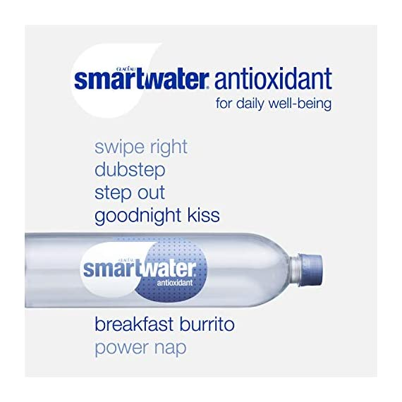 Smartwater antioxidant, 33. 8 fl oz bottles, pack of 12 7 purity you can taste. Hydration you can feel. Your newest way to hydrate the smartwater you love with a smart new twist. Vapor distilled water for purity, added electrolytes for taste and now infused with antioxidant selenium. Smartwater antioxidant water is the same crisp, clean water you love, it's vapor distilled, with added electrolytes for taste and infused with antioxidant selenium.