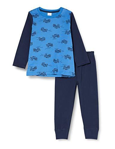 Sanetta Jungen Saphir Sportlich Cooler Schlafanzug in Blau für große Monstertruckfans, 098