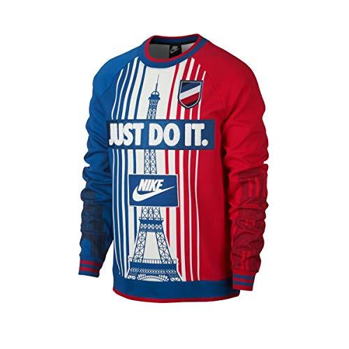 Nike Sportswear Paris Herren-Sweatshirt mit Rundhalsausschnitt aus mehrfarbigem Stoff AR1987-477