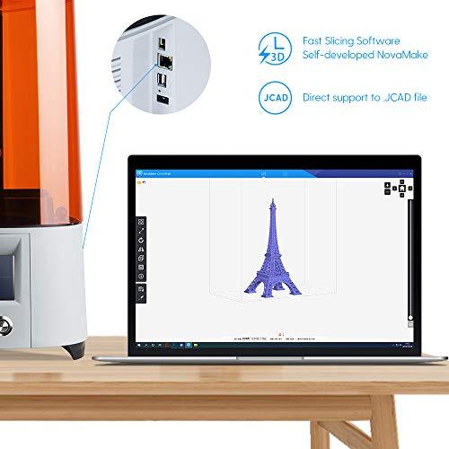 NOVA3D Elfin LCD 3D Resin Drucker Druckbereich von 132 x 74 x 150mm mit WLAN/Offline-Drucken, 4.3 Zoll Farbtouchscreen - 7