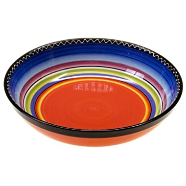 Certified International Tequila Sunrise Serving/Pasta Bowl, 13 by 3-Inch