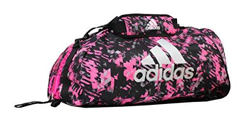 adidas Sporttasche - Sportrucksack Camouflage pink/Silber, Gr. L