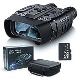 Binoculares de visión nocturna, prismáticos infrarrojos digitales, Cámara fotográfica HD de 960p Grabadora de video, Pantalla grande de 2,31'y rango de visualización de 300 m