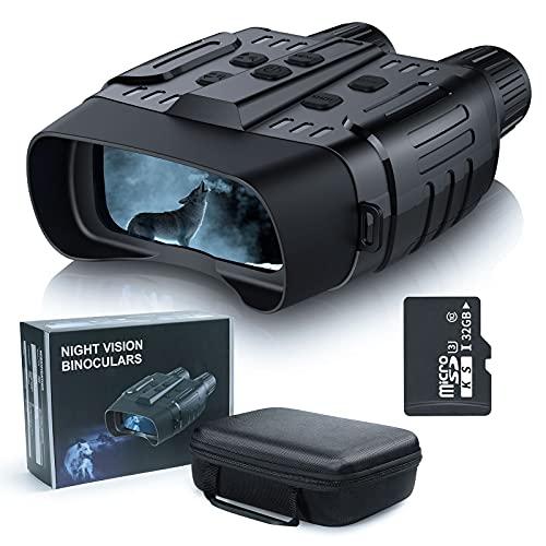 Nachtsichtgerät, TKWSER Wildkamera HD Digital Infrarot Nachtsicht Fernglas, Nachtsichtbrille für Vogelbeobachtung, Jagd, Spotting, Überwachung mit 32GB Speicherkarte und Tragetasche