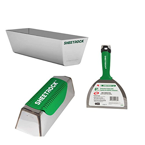 USG Sheetrock Pro Drywall Taping Combo with Mud Pan, Pro Series Knife and Magnetic Pan Grip