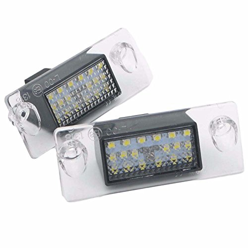 PolarLander 2pcs Voiture 18LED numéro Plaque d'immatriculation s'allume la Lampe pour Au/di A4 B5 95-01 S5 B5 A3 8L S3 S/portback A4 S4 A/vant 95-99