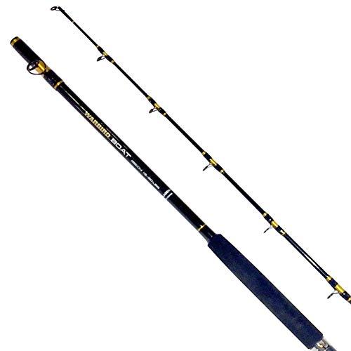 Fladen Fishing Caña de Pescar de Carbono, 2 Piezas, Redonda, para caña de Pescar Marina y Marina (Clase de 15 – 30 Libras) – Disponible en 1,80 m 1,95 m 2,10 m, Negro, 180 cm