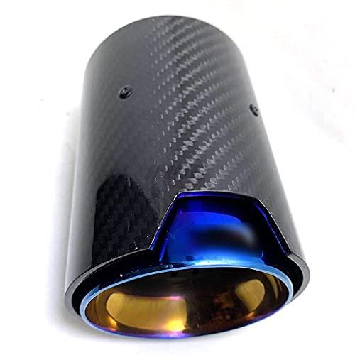 Silenciador Sistema Escape Coche Compatible para B M W M2 F80 M3 F82 F83 M4 M5 F87 Punta Tubo Escape Cubierta Tubo Trasero Carbono Brillante B