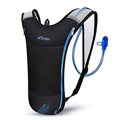 KUYOU Hydration Pack,Hydration Backpack with 2L Hydration Bladder for Running, Hiking, Cycling, Camping (Blue)