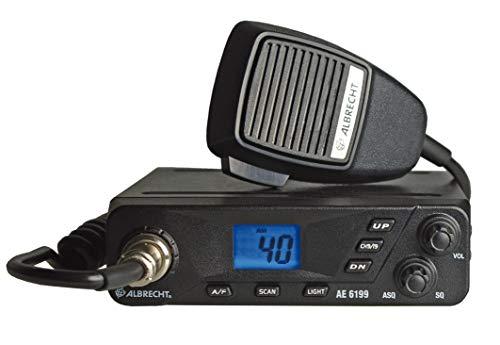 Albrecht AE6199 CB-Funkgerät mit 6-pol. Mikrofon, 12699, Multistandard Gerät mit ASQ Automatiksquelch, 4W Sendeleistung