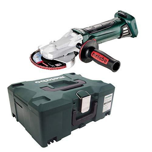 Metabo Miniamoladora con Cabeza Plana a bateria 18V Ah Li-Ion WF 18 LTX 125 mm con maletin MetaLoc, Negro, Verde, Gris