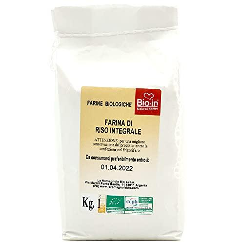 Oltresole - Farina Italiana di Riso Integrale Biologica 1 Kg - farina integrale senza glutine ideale per preparare dolci, salati, biscotti, vegano
