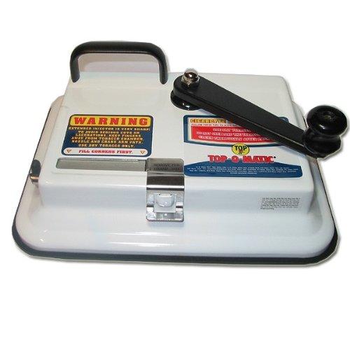 OCB Top-o-Matic Zigaretten Stopfmaschine, Chrom, weiß, 15 x 15 x 5 cm