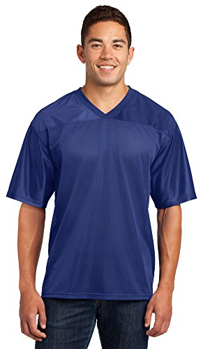Sport-Tek Mens PosiCharge Replica Jersey, Medium, True Royal