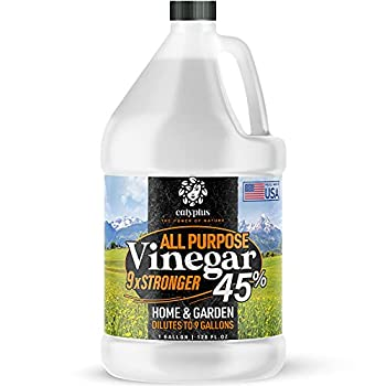 Calyptus 45% Pure Super Concentrated Vinegar | Dilutes to 9 Gallons | 9x Power Cleaning Vinegar | Plant Based | Home and Outdoor | All-Purpose Cleaner 1 Gallon