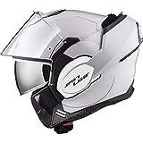 LS2, casco de moto modular VALIANT blanco, XL