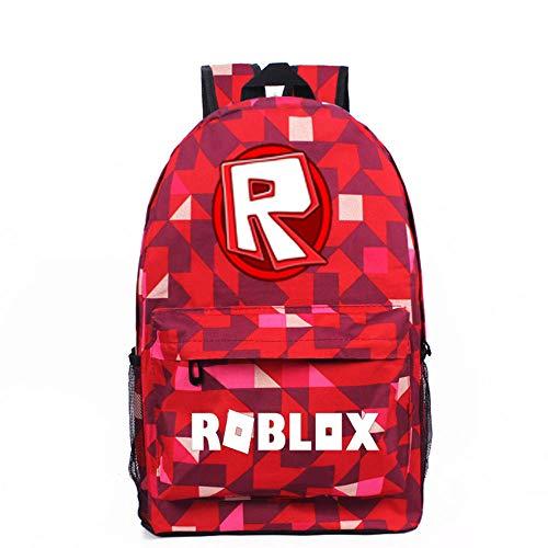 Nuevo Roblox 3D Print School Bag Mochila de Juego Mochila Unisex Adecuado para niños y niñas