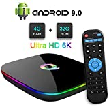 Android 8.1 TV BOX, 2019 Newest Android Box 4GB RAM 32GB ROM H6