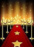 Daniu Hollywood Telones de fondo Vinilo Alfombra roja Fondo Fiesta de cumpleaños Decoraciones para eventos Disfraces y premios Noche Ceremonia Retratos Accesorios para fotomatón