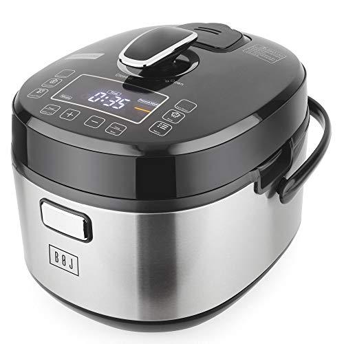 BOJ Olla eléctrica PC-1100-5, rápida, super-rápida y cocinado programado lento