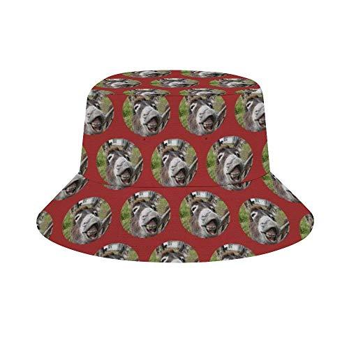NA Herren- und Damenmode, trendiger Fischerhut, lustiger Weihnachtsmann Einheitsgröße Lustiger Esel