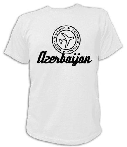 Artdiktat T-Shirt Azerbaijan Visited Unisex, Größe S, weiß