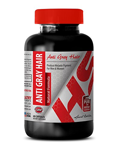 Folic Acid Supplement - Anti Gray Hair Natural Formula - Support The Nervous System (1 Bottle 60 capsules)