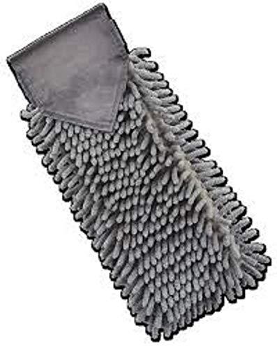 Norwex Chenille Hand Towel Graphite Gray - BacLock Antibacterial