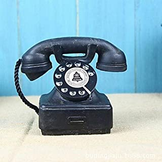 Home Ornaments Vintage 1940s Western Electric Black Rotary Handset Desk Phone Model