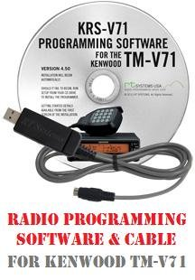 Kenwood TM-V71A Dual-Band Mobile Two-Way Radio Programming Software & Cable Kit