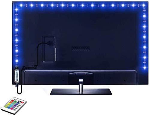 Striscia LED da 2,0 m per TV da 40-60 pollici, 16 colori mutevoli, 5050 LED Bias Lighting per HDTV, USB LED TV Retroilluminazione, Kit con telecomando