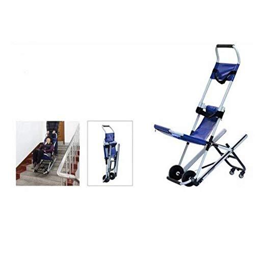 GJX-Rollstuhl Aluminiumlegierung Raupen Treppe Bahre Leichte Treppenevakuierungsstuhl Ambulance Feuerwehrmann Evakuierung Medizinischer Aufzug Treppen Stuhl, 350 lb
