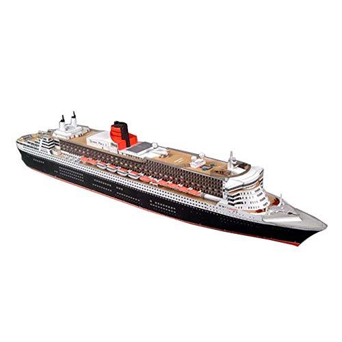 JHSHENGSHI Modelo de Juguetes Escala 1/400 británico El Crucero Queen Mary II Juguetes y Regalos para niños, 33,9 Pulgadas x 4,4 Pulgadas