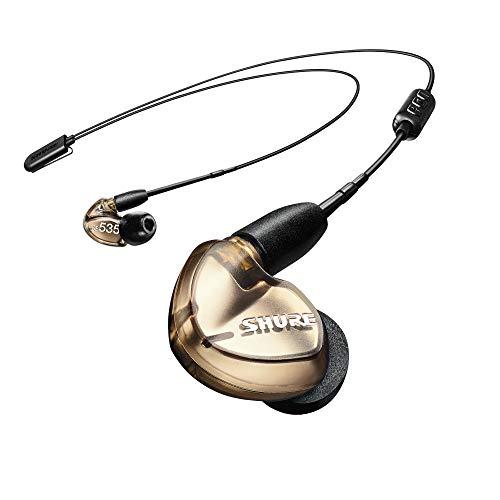 SHUREワイヤレスイヤホンBT2シリーズSE535-V+BT2-Aブロンズ:マイク・リモコン付【国内正規品/メーカー保証2年】