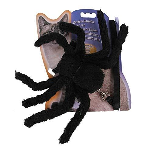 lingzhuo-shop kat borstband spin linnen kat Cos spin kostuum pet dress Up zwart pluche spin horror scary Halloween Kerstmis Cat Dress Up