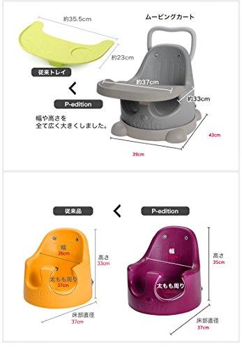 ESSIANコアラシートP-Edition【メタルグレー×グレー】ソフトチェアお座り練習チェア太もも周りゆったり38cm