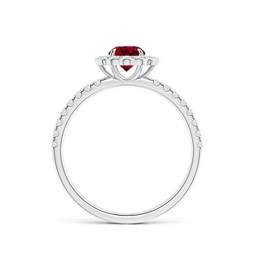 Angara.com   950 Platino  platino redondo   blanco raro +/wesselton superior f diamante granate
