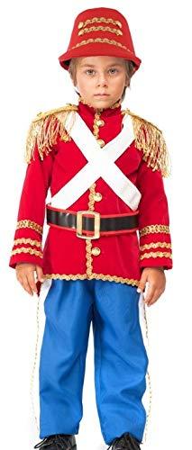 Italienisches Baby- und ältere Jungen-Mädchen-Deluxe-Spielzeug-Dose Soldat Weihnachten Nussknacker Drummer Junge Kostüm Outfit 0-6 Jahre (1 Jahr)