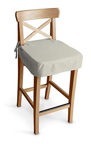 Dekoria Sitzkissen für Barhocker Ingolf Stuhlbezug Stuhlkissen passend für IKEA Modell Ingolf hellgrau