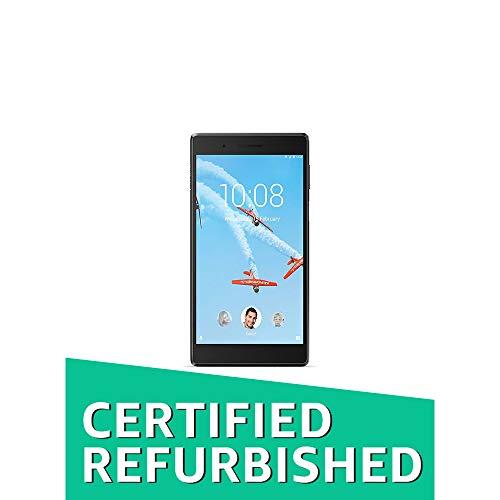 (Renewed) Lenovo Tab 7 Tablet (6.98 inch, 16GB, Wi-Fi + 4G LTE, Voice Calling) Black