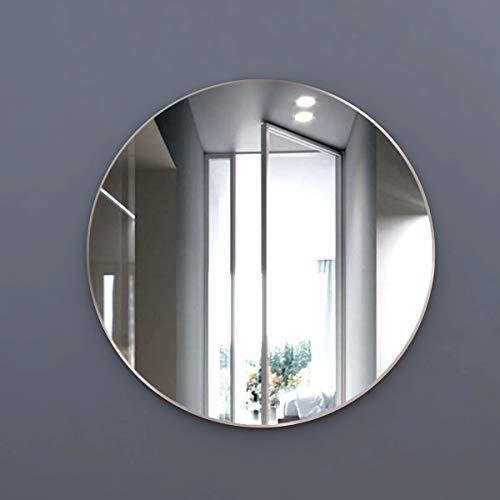 styleglass Espejo de baño Redondo Plaza Diámetro 60cm, 3 mm Grosor, Espejo Made in Italy, Estructura de Chapa, Kit de Montaje en Pared Incluido, Grado de protección IP20