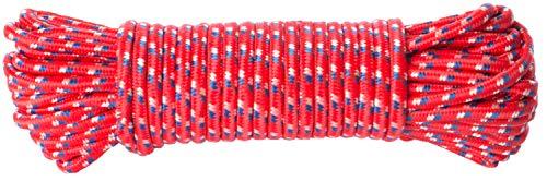 Brandsseller Allzweckseil 25 Meter aus Nylon/Ölresistent/Abriebfest/UV-Beständig/Seil-Rot