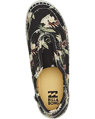 Billabong Women's Seascape Daze Printed Canvas Shoe Sneaker, Black Pebble, 10 M US