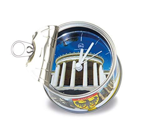 My Clock MyClock Personalisierbare Uhr, Foto-Geschenk, Bilder-Rahmen, Souvenir, Magnet, Lustiges Gadget - Aachen