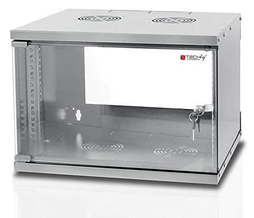 "Techly Professional 022212 Armadio Rack 19"" a Muro 6U Prof. 320 Grigio Assemblato Grigio"