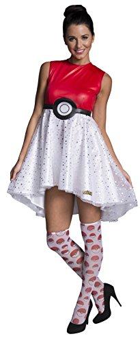 Rubie's Costume Co Women's Pokemon Pokeball Costume Dress, Multi, Large