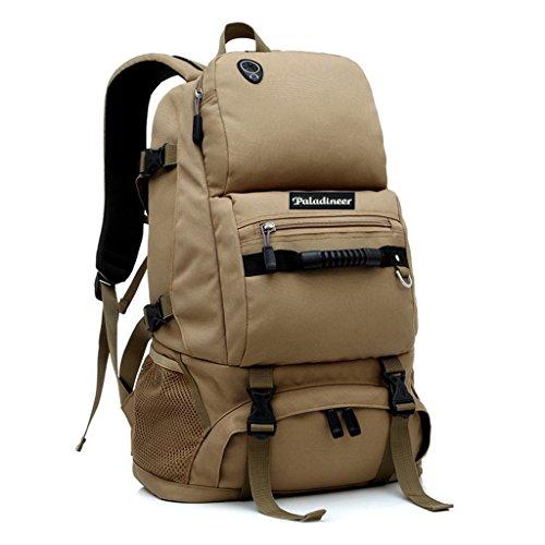 Paladineer Outdoor Hiking Backpack Travel Backpack Camping Daypack 40-liters Khaki