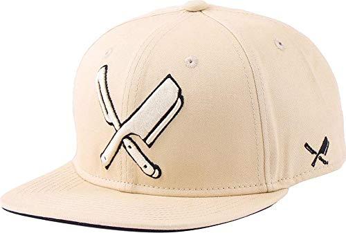 Distorted People Barber & Butcher Logo Blades Sand Black Snapback Cap Basecap OSFA One Size
